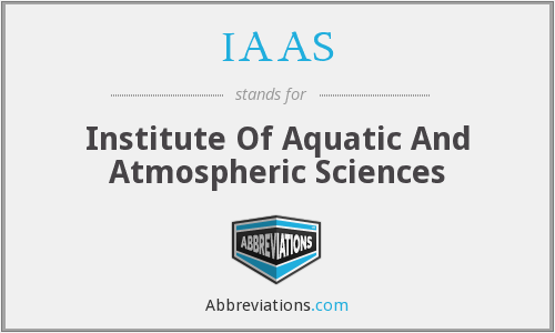 IAAS - Institute Of Aquatic And Atmospheric Sciences