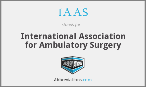 IAAS - International Association for Ambulatory Surgery