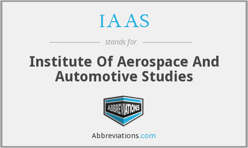 IAAS - Institute Of Aerospace And Automotive Studies