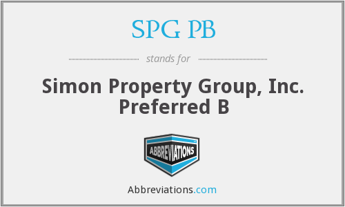 What does SPG PB stand for?