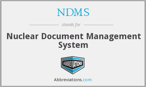 NDMS - Nuclear Document Management System