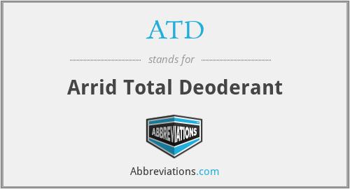ATD - Arrid Total Deoderant