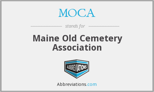 MOCA - Maine Old Cemetery Association