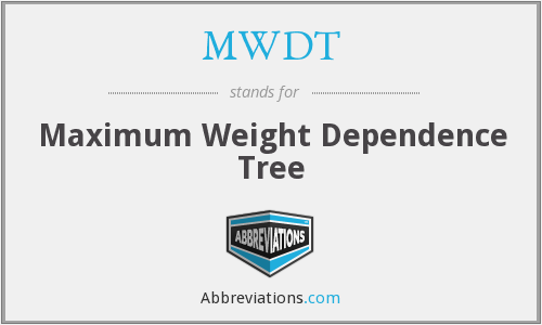 MWDT - Maximum Weight Dependence Tree