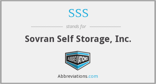 SSS - Sovran Self Storage, Inc.