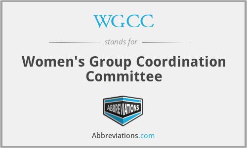 WGCC - Women's Group Coordination Committee