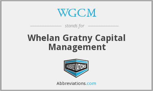 WGCM - Whelan Gratny Capital Management