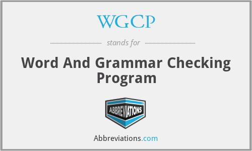 WGCP - Word And Grammar Checking Program