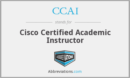 CCAI - Cisco Certified Academic Instructor