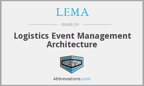 LEMA - Logistics Event Management Architecture