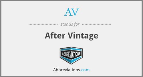 AV - After Vintage