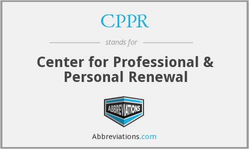 CPPR - Center for Professional & Personal Renewal