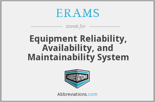 ERAMS - Equipment Reliability Availability And Maintainability System