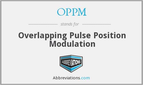 OPPM - Overlapping Pulse Position Modulation