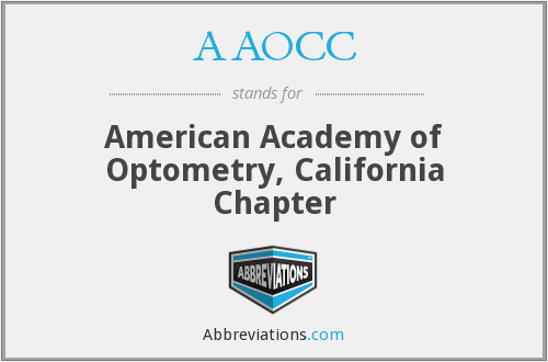 AAOCC - American Academy of Optometry, California Chapter