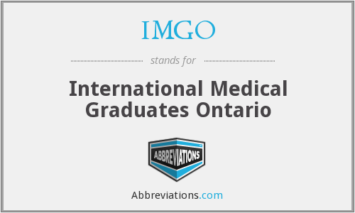 IMGO - International Medical Graduates Ontario