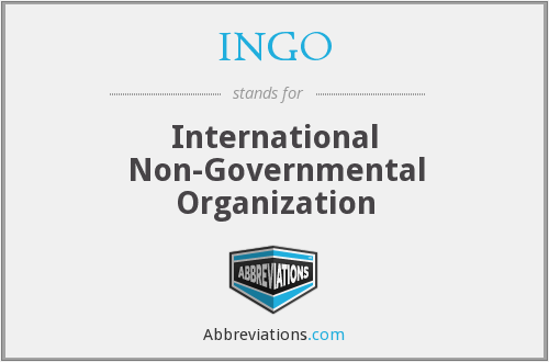 INGO - International Non-Governmental Organization