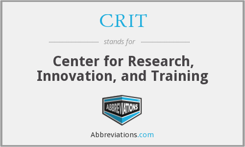 CRIT - Center for Research, Innovation, and Training