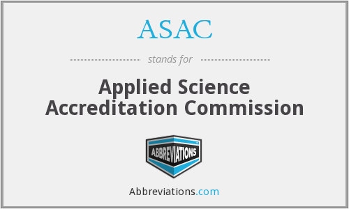 ASAC - Applied Science Accreditation Commission