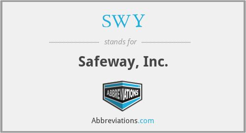 SWY - Safeway, Inc.