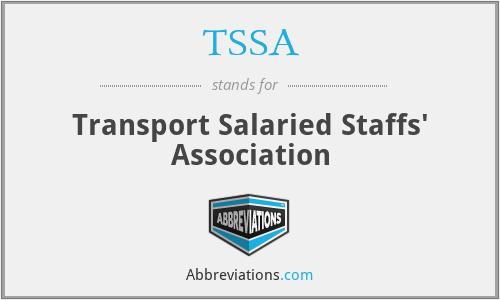 TSSA - Transport Salaried Staffs' Association