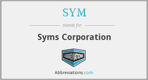 SYM - Syms Corporation