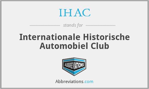 IHAC - Internationale Historische Automobiel Club