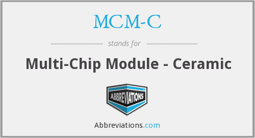What does MCM-C stand for?