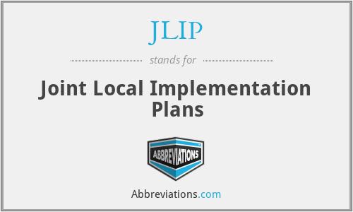 JLIP - Joint Local Implementation Plans