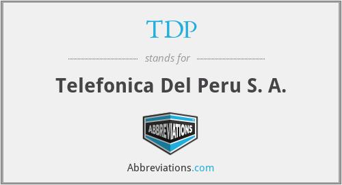 TDP - Telefonica Del Peru S. A.