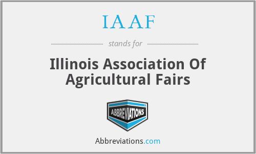 IAAF - Illinois Association Of Agricultural Fairs