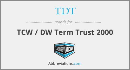 TDT - TCW / DW Term Trust 2000