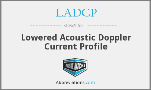LADCP - Lowered Acoustic Doppler Current Profile