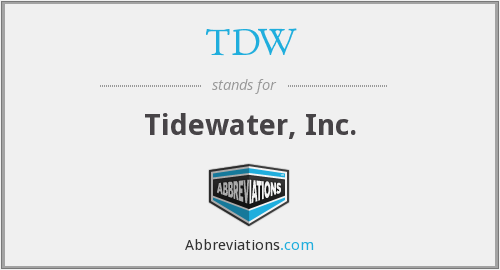 What does TDW stand for?