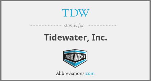 TDW - Tidewater, Inc.