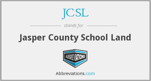 JCSL - Jasper County School Land