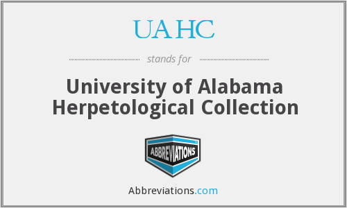 UAHC - University of Alabama Herpetological Collection