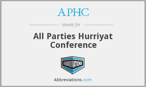 APHC - All Parties Hurriyat Conference