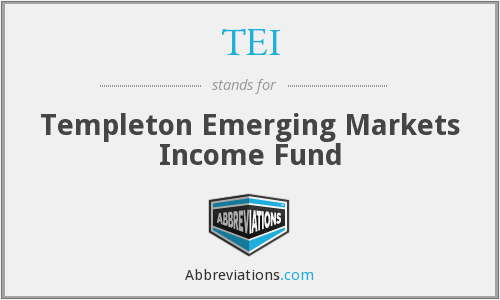 TEI - Templeton Emerging Markets Income Fund