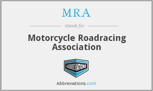 MRA - Motorcycle Roadracing Association