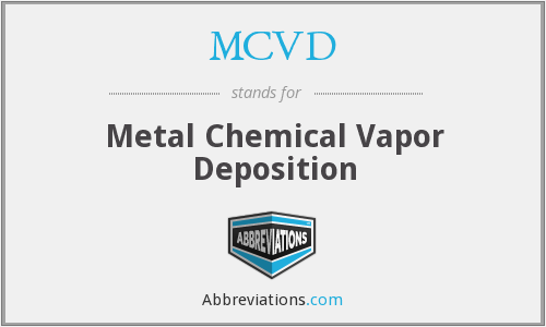 What does MCVD stand for?