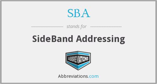 SBA - SideBand Addressing