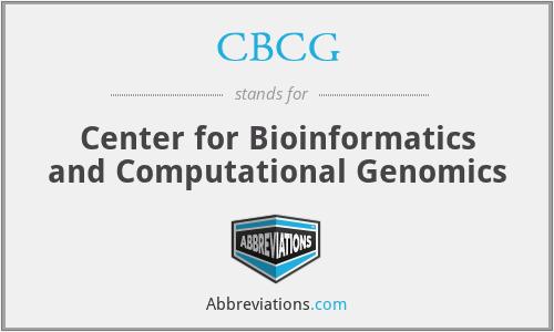 CBCG - Center for Bioinformatics and Computational Genomics