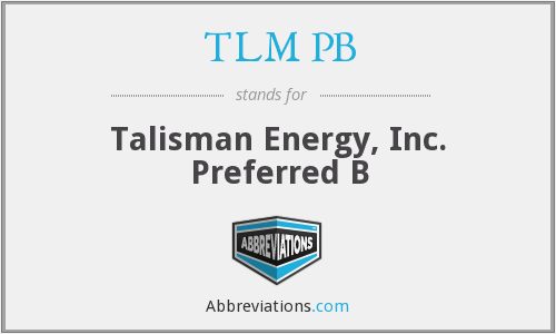 What does TLM PB stand for?