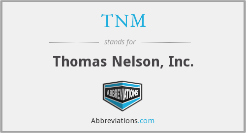 What does TNM stand for?