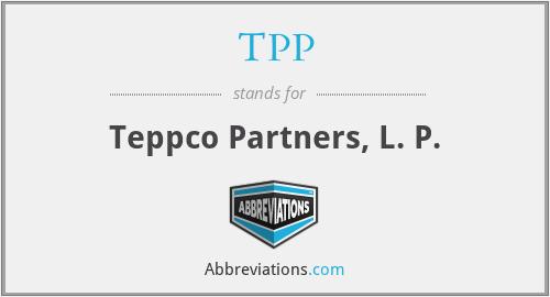 TPP - Teppco Partners, L. P.