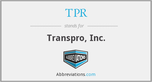 TPR - Transpro, Inc.