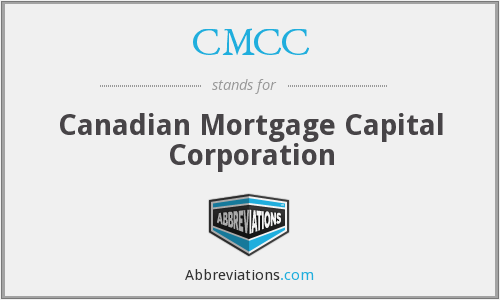 CMCC - Corporationcanadian Mortgage Capital Corporation