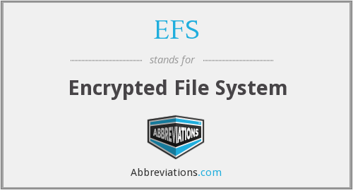 EFS - Encrypted File System