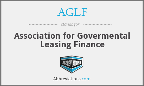 AGLF - Association for Govermental Leasing Finance